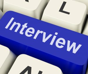 Interview Key on computer keyboard