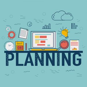 Infographic elements for Business Planning concept.
