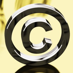Silver Copyright Sign Representing Patent Protection