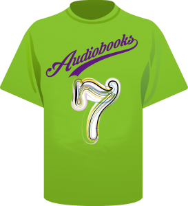 Audiobooks team shirt with 7 on it