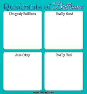 Quadrants of Brilliance with 4 squares