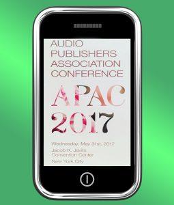APAC 2017 logo on a phone screen