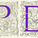illustrated letters P and D